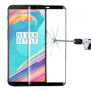 Heltäckande 3D Displayskydd 9H för OnePlus 5T - Svart ram