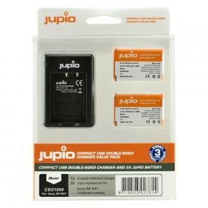 Jupio Batteripaket 1250mAh ersätter Sony NP-BX1