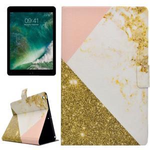 Fodral för iPad 9.7 - Guld, marmor & rosa