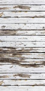 Vinylbakgrund 1.5x3m - Trävägg med flagnande färg vit