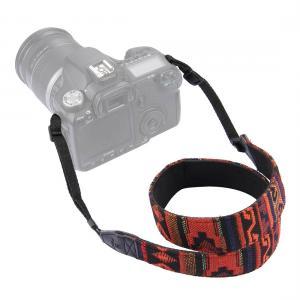 Puluz Kamerarem - Afrikanskt mönster (Svart & Röd)