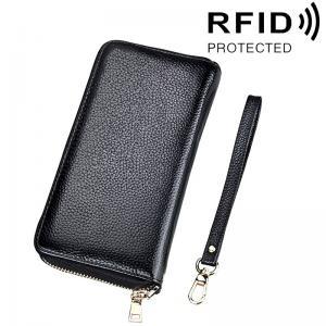 Plånbok med handledsrem och korthållare - RFID-skydd