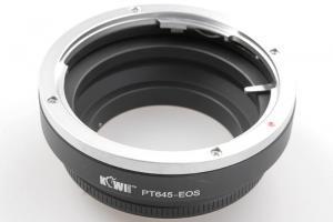 Kiwifotos Objektivadapter till Pentax 645 för Canon EOS kamerahus