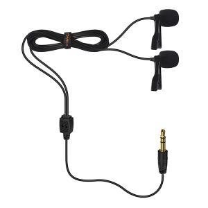 Myggmikrofon dubbel Clip-on för kamera, smartphone, Gopro - CoMica
