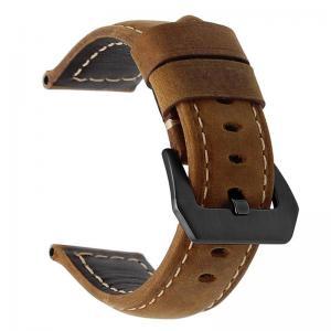 Läderarmband för Huawei Watch GT / Watch 2 Pro - Brun