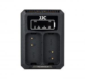 JJC USB-driven dubbel batteriladdare för Panasonic DMW-BLJ31