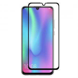 Displayskydd med svart ram för Huawei Honor 10 Lite av härdat glas