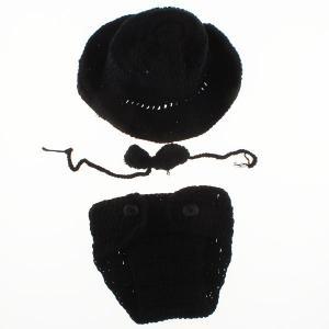 Klädset med hatt och fluga - Svart