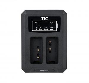 JJC USB-driven dubbel batteriladdare för Canon LP-E17