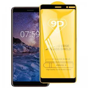 Displayskydd 9H för Nokia 3.2 - Svart ram