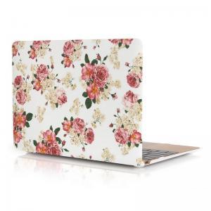 Skal för Macbook 12-tum - Vit med rosa blommor