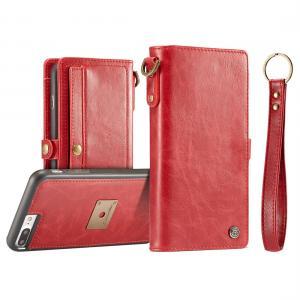 CaseMe för iPhone 7 Plus/ 8 Plus - Plånboksfodral med skal PU-läder