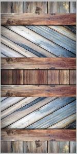 Vinylbakgrund 1.5x3.0m - Trävägg multifärgad blå