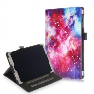 Fodral med sedelfack för Galaxy Tab A 10.1 (2019) med rymdmönster