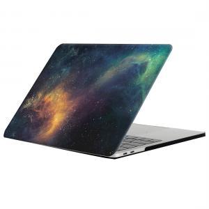 Skal för New Macbook Pro 13.3-tum - Rymdmönster Grön & Blå (A1706 / A1708)