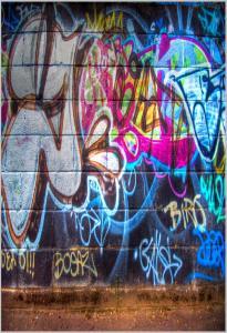 Vinylbakgrund 1.5x2.1m - Graffiti Tags