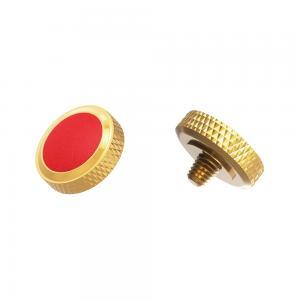 JJC Deluxe avtrycksknapp - Guld & Röd