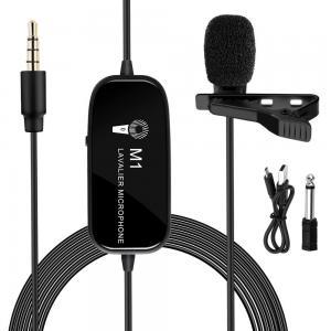 K&F Concept Myggmikrofon M1 med klämma & 6 meter kabel