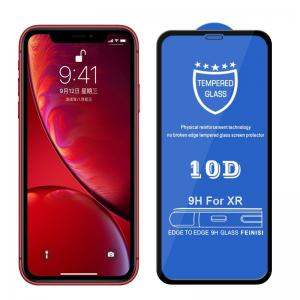 Displayskydd 9H för iPhone XR- Svart ram