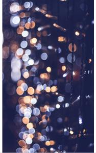 Vinylbakgrund 1.5x3.0m - Ljusslinga med bokeh