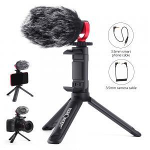 K&F Concept Videomikrofon med ministativ/mobilhållare