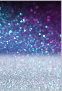 Vinylbakgrund 1.5x2.1m - Blå, Lila & Silver Glitter