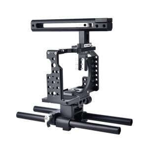 Yelangu CA7 Videokamerabur Cage med Rälsstång för Sony A7K A7X