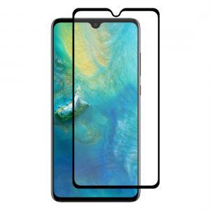 Displayskydd med svart ram för Huawei Mate 20 av härdat glas