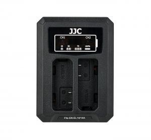 JJC USB-driven dubbel batteriladdare för NIKON EN-EL14, EN-EL14a