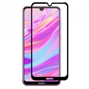 Displayskydd med svart ram för Huawei Enjoy 9 av härdat glas