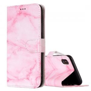 Plånboksfodral för iPhone X - Rosa marmor