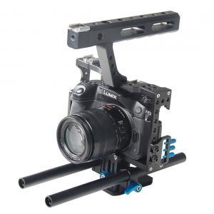 YELANGU Videokamerabur med basplatta för Sony A7/ Lumix DMC-GH4