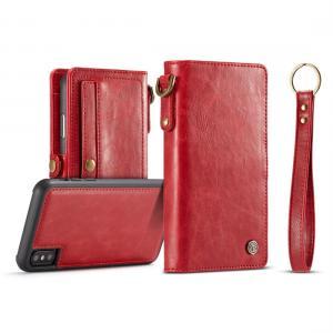 CaseMe för iPhone X - Plånboksfodral med skal PU-läder