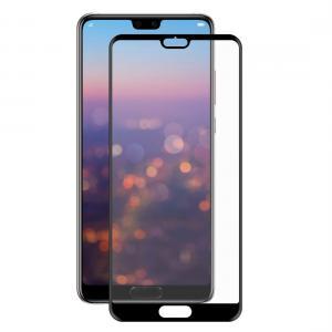 Displayskydd med svart ram för Huawei P20 av härdat glas