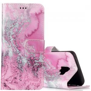 Plånboksfodral för Galaxy S9 - Rosa vågmönster