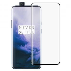 Heltäckande 2,5D Displayskydd 9H för OnePlus 7 Pro - Svart ram