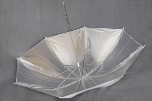 Fotoparaply Silver - Vit utsida