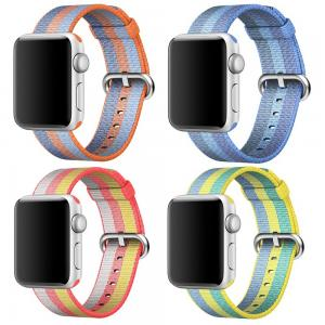 Armband för Apple Watch 42mm - Randig vävd nylon