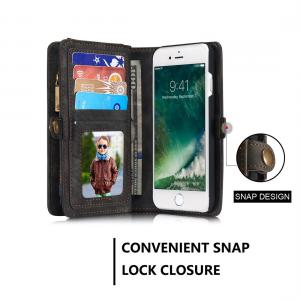 CaseMe för iPhone 8 & 7 - Plånboksfodral med magnetskal