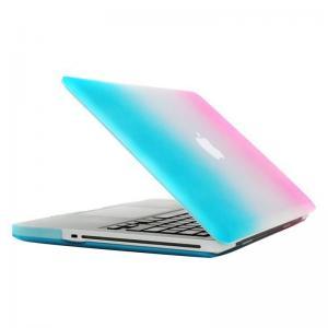 Skal för Macbook Pro 13.3-tum - (A1278) - Matt Frostat - (Blå & Rosa)