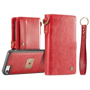 CaseMe för iPhone 7/ 8 - Plånboksfodral med skal PU-läder