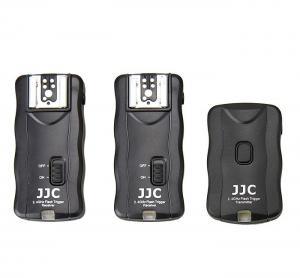 JJC 2.4 GHz [3 i 1]: Blixtutlösare, trådutlösare & fjärrutlösare JF-G2