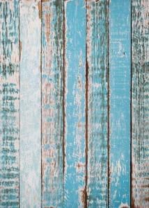 Vinylbakgrund 1.5x3.0m - Sliten trävägg blå