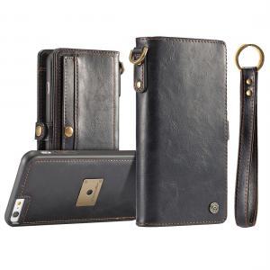 CaseMe för iPhone 6/6S - Plånboksfodral med skal PU-läder