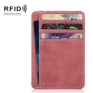 Öppen plånbok med RFID-skydd och plats för ID-kort