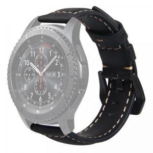 Läderarmband för Huawei Watch GT / Watch 2 Pro - Svart