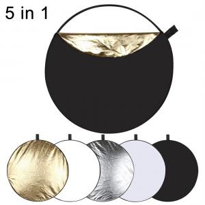 Puluz 5 i 1 Reflexskärm (silver, transparent, guld, vit, svart)