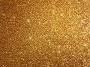 Vinylbakgrund 1.5x3.0m - Guld glitter