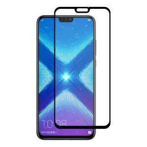 Displayskydd med svart ram för Huawei Honor 8x av härdat glas
