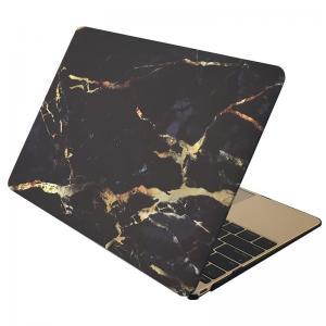 Skal för för Macbook 12-tum - Marmor svart & guld
